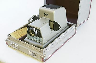 Vintage British Specto Colorslide 300 Slide Projector Viewer with Case