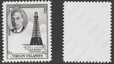 Br Virgin Is (2121) 1952 KG6 Lighthouse -  a Maryland FORGERY unused