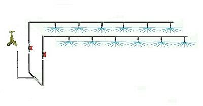 Green House Overhead Kit for upto 8mts x 4mts with or without Galcon Tap Timer