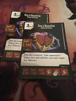 Dice Masters: Yu-Gi-Oh! 2x Ring of Magnetism Uncommon Card & Dice #063/120 HTF