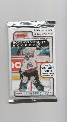 NHL Upper Deck 2002/03 Victory Sealed 10 Card Pack - New