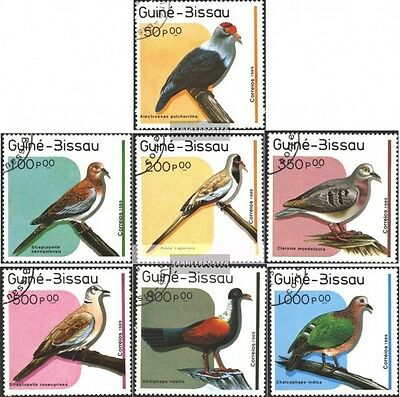 Guinea-Bissau 1018-1024 (complete issue) used 1989 Pigeons