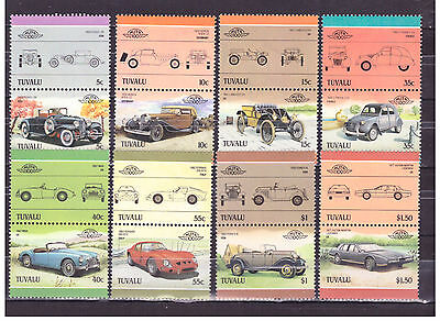 Francobolli TUVALU 1985 Automobili Leaders of the World MNH** YV339-54