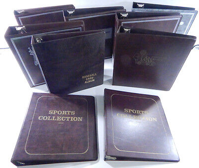 Lot of (9) USED Sports Card & Baseball Albums ~ 3-Ring Binders