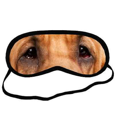 Cute BLOODHOUND EYES Dog Puppy Lovers Small-Med Size SLEEP MASK Gift Cover
