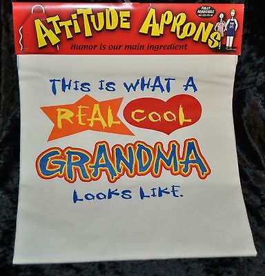 ATTITUDE APRONS This Is What A Real Cool Grandma Looks Like Fully Adjustable NEW