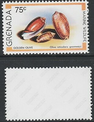 Grenada (2118) - 1979 Golden Olive Shell -  a Maryland FORGERY unused