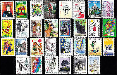France - Used Selection Of 30 Stamps Off Paper