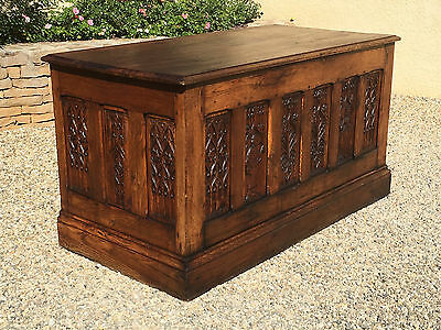 Antique French Gothic Desk Circa 1850 Nice Early Model Excellent Carved Detail