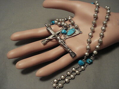 The Best And Finest Vintage Navajo Sterling Silver Turquoise Rosary