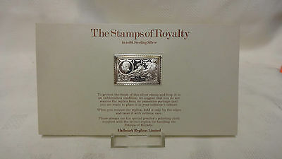 1977 The Stamps Of Royalty Sterling Silver Postage Stamp - No 13 - One Pound