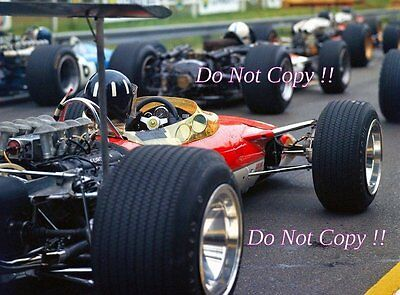 Graham Hill Gold Leaf Team Lotus 49B French Grand Prix 1968 Photograph