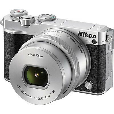 Nikon 1 J5 Mirrorless Digital Camera with 10-30mm Lens Silver UU