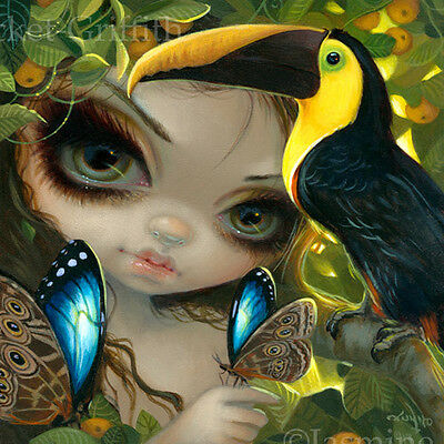 Toucan Faces of Faery 236 Jasmine Becket-Griffith ORIGINAL PAINTING big eye art