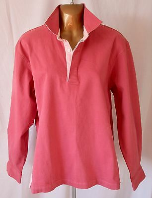 CREW Clothing - Pink Long Sleeve Deck Shirt - Size 16 BNWT