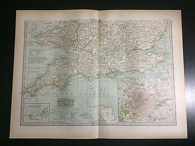 1897 Map of England and Wales - The Century Atlas of World by Ben E. Smith #75