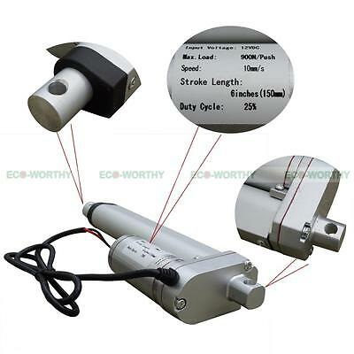 """Heavy Duty 6"""" 12V Linear Actuator with Brackets 225 Pound Max Lift for Sofa"""