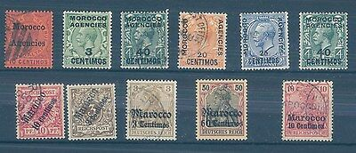 British and German MOROCCO MH/used stamps  (CV $60 EUR50)