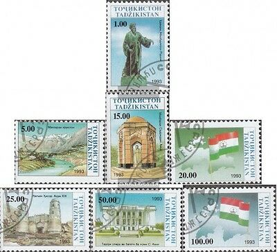 Tajikistan 15-21 (complete issue) used 1993 clear brands: Indep