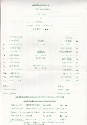 Plymouth Argyle v Chelsea, Football Combination, Wednesday, 24th February 1980.