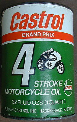 Old Original Castrol Oil Company Grand Prix Motorcycle Oil Can 1960's Very Rare