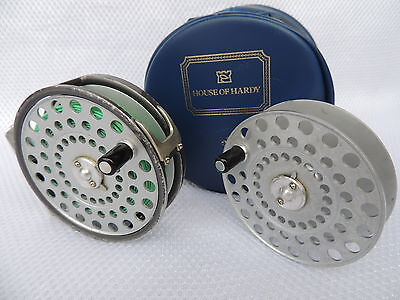 Vintage Made In England Hardy Princess Fly Fishing Reel + Spare Spool & Case.