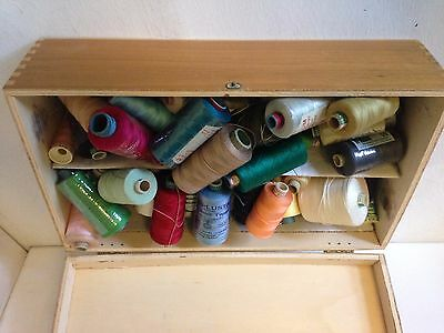 Fantastic Vintage Retro  Filled Sewing Cotton  Thread Box Job Lot Of Spools