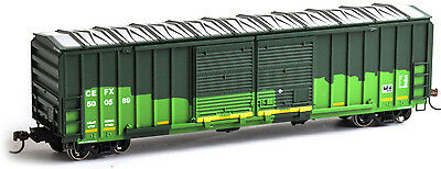 Athearn Roundhouse HO Scale 50ft FMC 5283 DD Box Car CEFX (Green/Patched) 500589