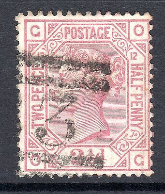 1873 - 80 SG 140 2&1/2d Rosy Mauve Plate 12 Fine Used.Cat £80.00.