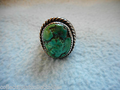 Sterling Silver Native American Turquoise Ring  30.7 grams