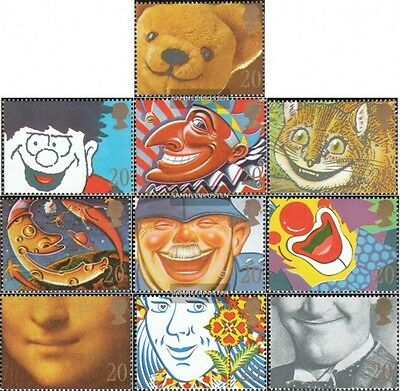 United Kingdom 1251-1260 mint never hinged mnh 1990 Smiling Faces