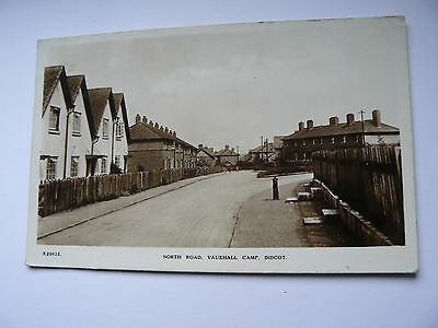 North Road Vauxhall Camp Didcot Real Photo RP Postcard - 1951 - Bridge House