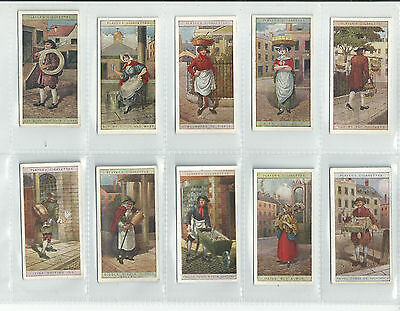 VG / EXC JOHN PLAYER 1916 SET....CRIES OF LONDON 2ND SERIES....cigarette cards