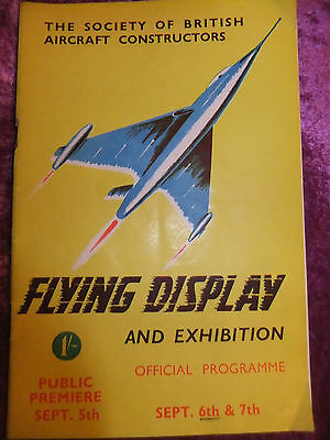 1952 Programme, Flying Display & Exhibition. Society Of B.a. Constructors. V/g.