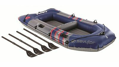 inflatable boat sevylor colossus 4 person holds 380 kg +pump