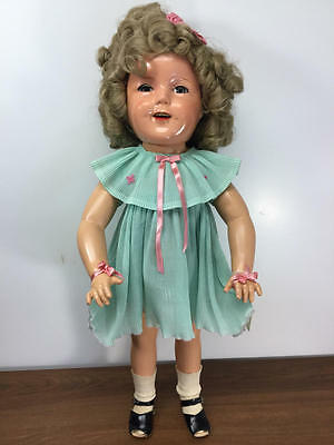 "27"" Antique 1934 Ideal Composition Shirley Temple Doll"