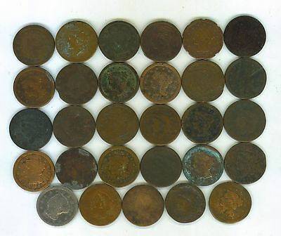 29 Dated Large Cents From 1817 To 1856-Cheap-L@@k-Reduced