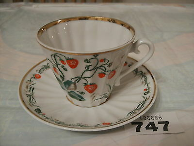 VINTAGE RUSSIAN USSR LOMONOSOV CHINA  CUP & SAUCER in perfect condition
