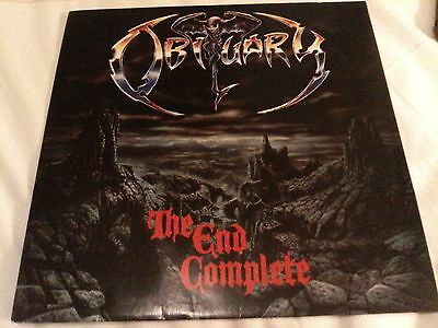 OBITUARY The End Complete LP BRAZIL PRESS w Insert EX+/NM