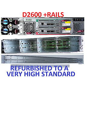 "HP Storageworks D2600 Disk Array 12x 3.5"" Drive Bays  AJ940A  Rail Kit"