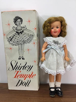 "Vintage Ideal 12"" Vinyl Shirley Temple Doll With Box Original Tagged Slip"