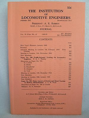 The Institution Of Locomotive Engineers Journal No 324 1968-69