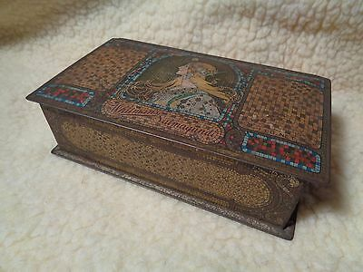 Antique WHITMAN'S SALMAGUNDI CHOCOLATES TIN Box art deco GOOD GRAPHICS