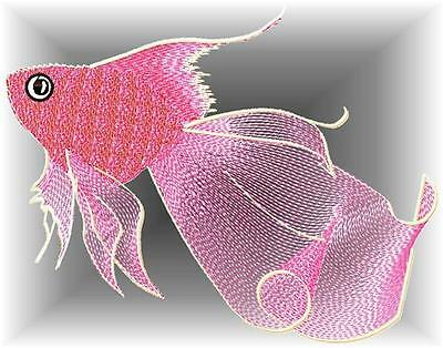 Delicate Goldfish 10 Machine Embroidery Designs Cd 3 Sizes