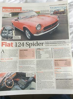 FIAT 124 SPIDER  BUYERS GUIDE ARTICLE  2013  ~Fia124S01