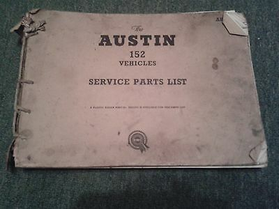 Austin A152 Omnivan/truck, Morris J2 G/d Cond Body/mechanical Parts Book