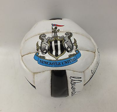 NEWCASTLE UNITED Football Signed by 7 Squad Players - P16