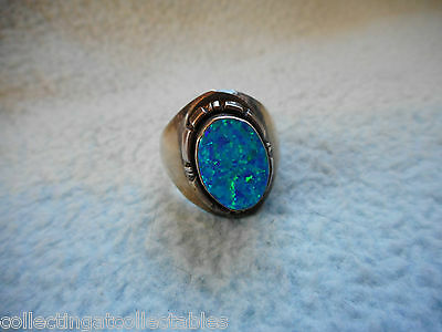 Sterling Silver Native American Ring Fire Opal  11.8 grams