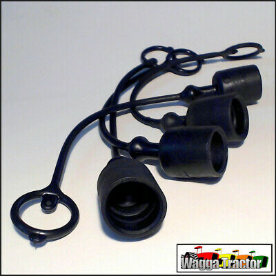 HCP5024 4x Black Hydraulic Coupler Dust Cups for Remotes - UNO 1/2in B5024
