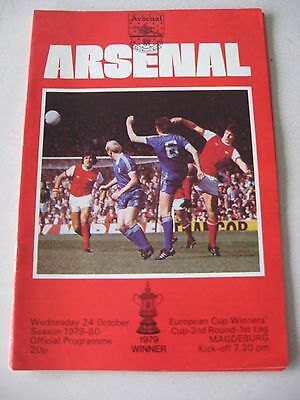 1979-80 Arsenal v Magdeburg Cup Winners Cup 2nd round 1st leg 24.10.1979